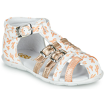 Shoes Girl Sandals GBB RIVIERA White / Pink