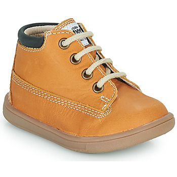 Shoes Boy High top trainers GBB NORMAN Cognac