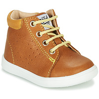 Shoes Boy High top trainers GBB FOLLIO Cognac