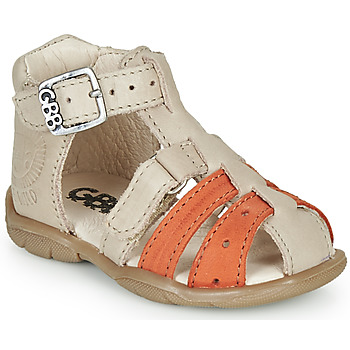 Shoes Boy Sandals GBB BORETTI Beige / Orange