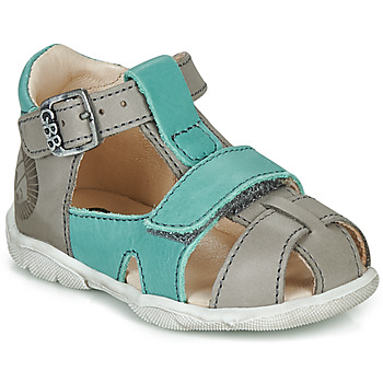 Shoes Boy Sandals GBB SEROLO Grey / Blue