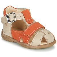 Shoes Boy Sandals GBB SEROLO Beige / Orange