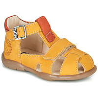 Shoes Boy Sandals GBB SEROLO Yellow / Orange