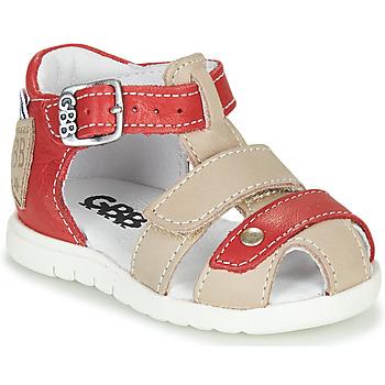 Shoes Boy Sandals GBB BASILA Red / Beige