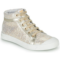 Shoes Girl High top trainers GBB NAVETTE White / Gold