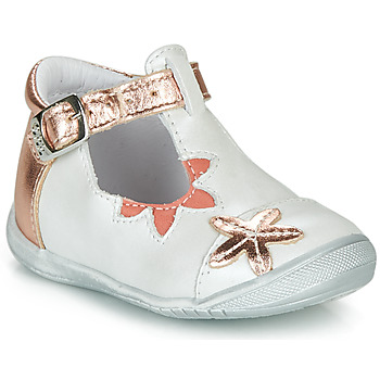 Shoes Girl Ballerinas GBB ANAXI White / Pink / Gold
