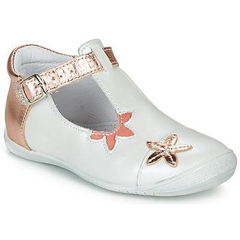 Shoes Girl Ballerinas GBB ANAXI White / Pink / Gold