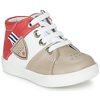 Shoes Boy High top trainers GBB AMOS Beige / Red / White
