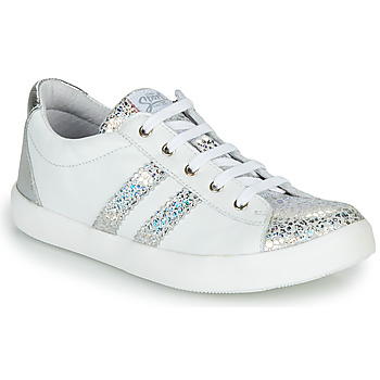 Shoes Girl Low top trainers GBB MAPLUE White / Silver