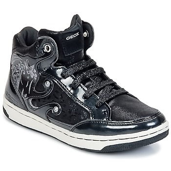 Shoes Girl High top trainers Geox CREAMY A Black