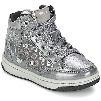 Shoes Girl High top trainers Geox CREAMY A Silver