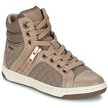 Shoes Girl High top trainers Geox CREAMY G TAUPE