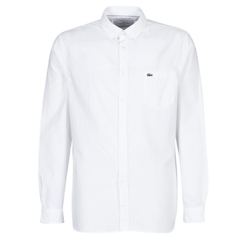 material Men long-sleeved shirts Lacoste CH4976 REGULAR White