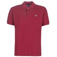 material Men short-sleeved polo shirts Lacoste POLO L12 12 REGULAR Bordeaux
