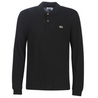 material Men long-sleeved polo shirts Lacoste L1312 Black