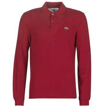 material Men long-sleeved polo shirts Lacoste L1312 Bordeaux