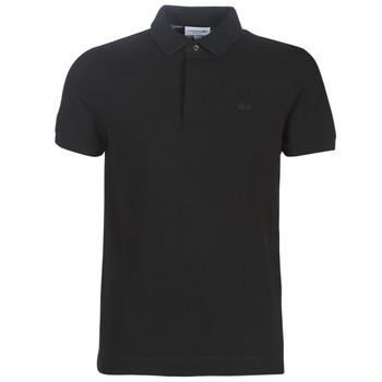 material Men short-sleeved polo shirts Lacoste PARIS POLO REGULAR Black