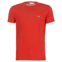 material Men short-sleeved t-shirts Lacoste TH6709 Red