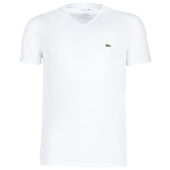 material Men short-sleeved t-shirts Lacoste TH6710 White