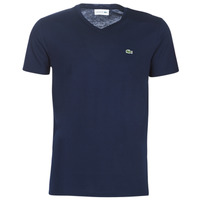 material Men short-sleeved t-shirts Lacoste TH6710 Marine