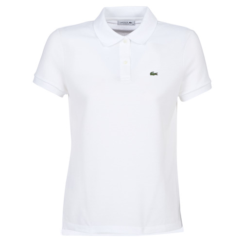 material Women short-sleeved polo shirts Lacoste PF7839 White