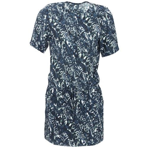 material Women Short Dresses Ikks SABLE Blue