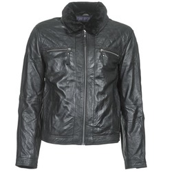 material Men Leather jackets / Imitation leather Teddy Smith BLEATHER Black