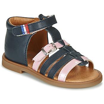 Shoes Girl Sandals GBB GUINGUETTE Marine / Pink
