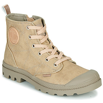 Shoes Women Mid boots Palladium PAMPA HI DESERT Beige