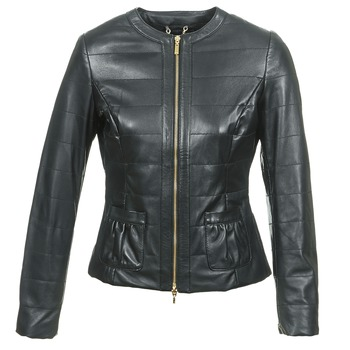 material Women Leather jackets / Imitation leather Geox ASALA Black