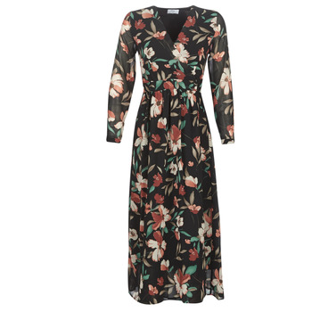material Women Long Dresses Betty London NOISETTE Black / Multicolour