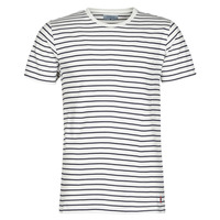 material Men short-sleeved t-shirts Yurban KINO Marine / White