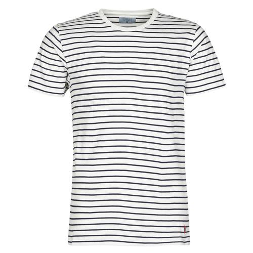 material Men short-sleeved t-shirts Yurban KINO Marine / White