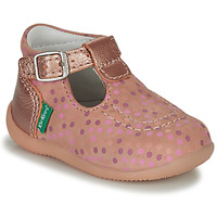 Shoes Girl Sandals Kickers BONBEK-3 Pink / Polka dot