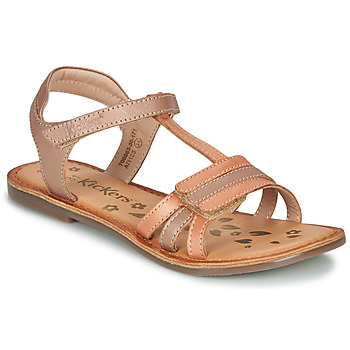 Shoes Girl Sandals Kickers DIAMANTO Orange / Pink