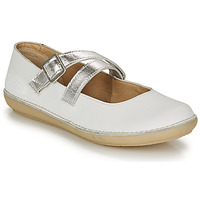 Shoes Women Ballerinas Kickers FAUSTY White / Silver