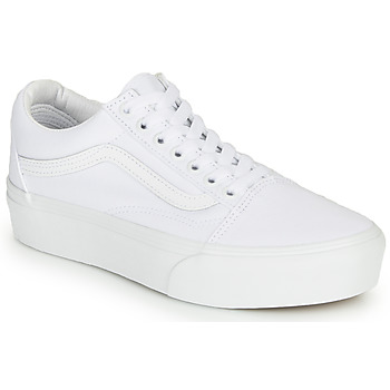 Shoes Women Low top trainers Vans UA Old Skool Platform White