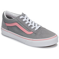 Shoes Girl Low top trainers Vans JN Old Skool Grey / Pink