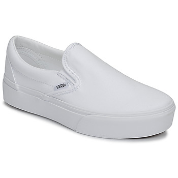 Shoes Women Slip ons Vans UA Classic Slip-On Platform White