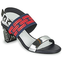 Shoes Women Sandals United nude POP SANDAL MID Black / Red