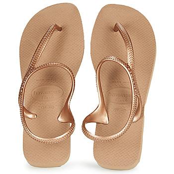 Shoes Women Flip flops Havaianas FLASH URBAN Pink / Gold