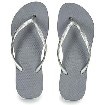 Shoes Women Flip flops Havaianas SLIM FLATFORM Grey