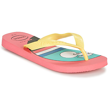 Shoes Women Flip flops Havaianas TOP VIBES Pink / Yellow