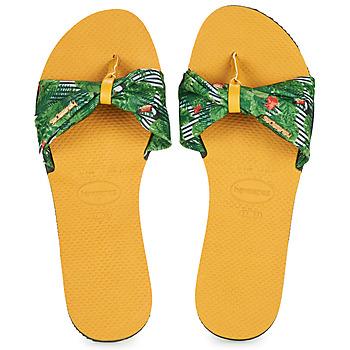 Shoes Women Flip flops Havaianas YOU SAINT TROPEZ Yellow / Green