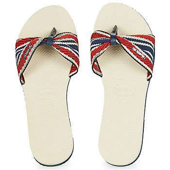 Shoes Women Flip flops Havaianas YOU SAINT TROPEZ FITA Beige / Marine / Red
