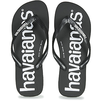 Shoes Men Flip flops Havaianas TOP LOGOMANIA  black