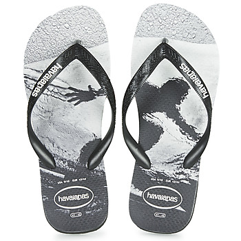 Shoes Men Flip flops Havaianas TOP PHOTOPRINT Black / White