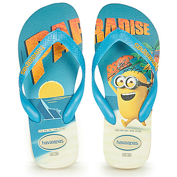Shoes Boy Flip flops Havaianas MINIONS Blue