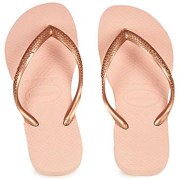 Shoes Girl Flip flops Havaianas SLIM Pink