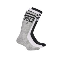 Accessorie Men Socks Polo Ralph Lauren 3PK DBLE BAR-CREW-3 PACK White / Grey / Black
